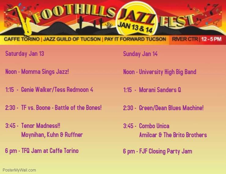 foothills jazz fest schedule