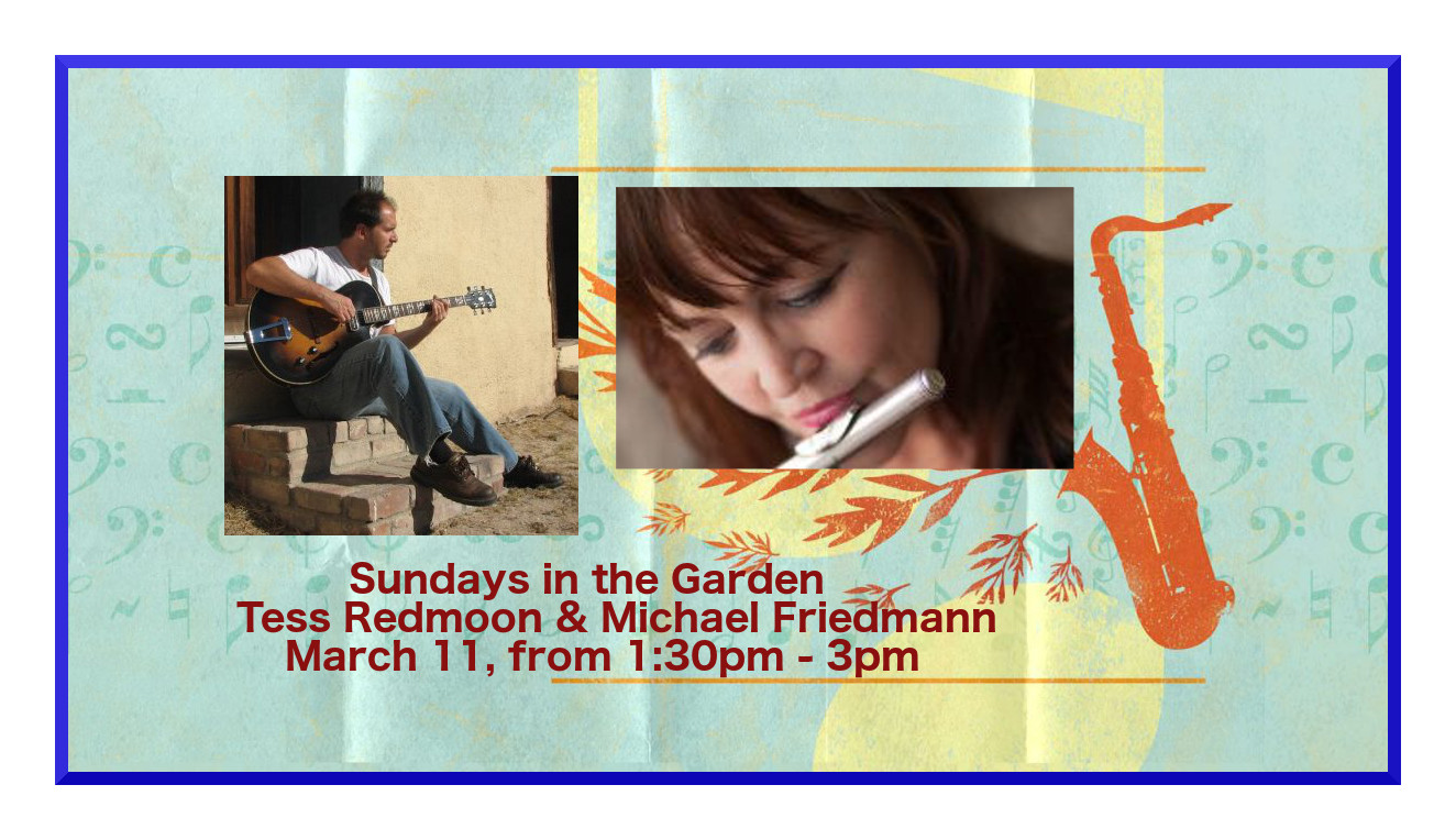 Tess RedMoon & Michael Friedmann perform at Tohono Chul Park Sunday March 11 from 1:30pm - 3pm
